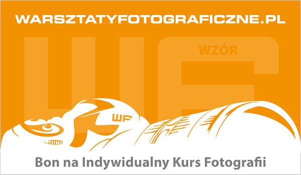 Bon podarunkowy na Indywidualny Kurs Fotografii. Warsztaty Fotograficzne.
