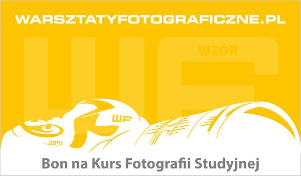 Bon podarunkowy na Kurs Fotografii Studyjnej. Warsztaty Fotograficzne.