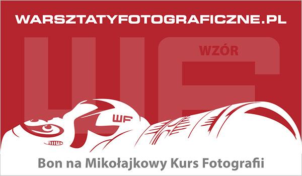 Bon podarunkowy na Mikołajkowy Kurs Fotografii. Warsztaty Fotograficzne.